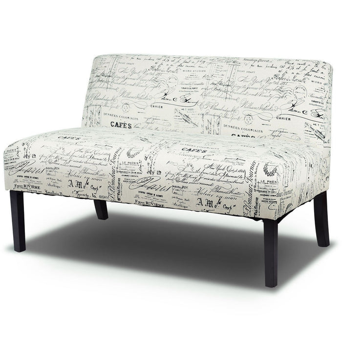 Wooden Leg Armless Loveseat Sofa - UNQFurniture