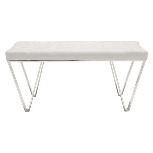 Top Bench, White - UNQFurniture