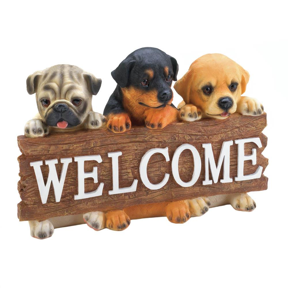 Puppy Dog Welcome Plaque - UNQFurniture