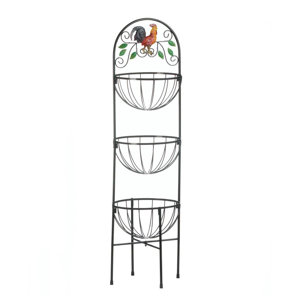 Rooster 3-Tier Kitchen Basket - UNQFurniture
