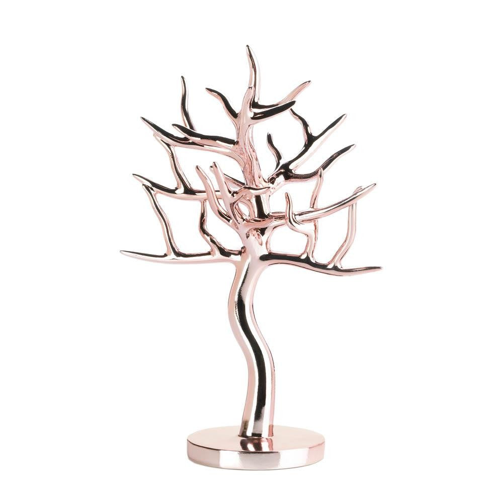 Rose Gold Jewelry Tree - UNQFurniture