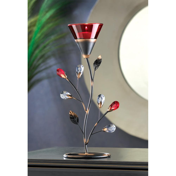 Ruby Blossom Tealight Holder - UNQFurniture