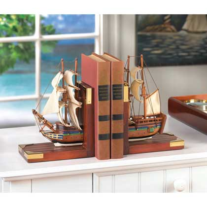Sailing Schooner Bookends - UNQFurniture