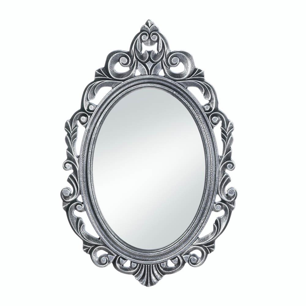 Silver Royal Crown Wall Mirror - UNQFurniture