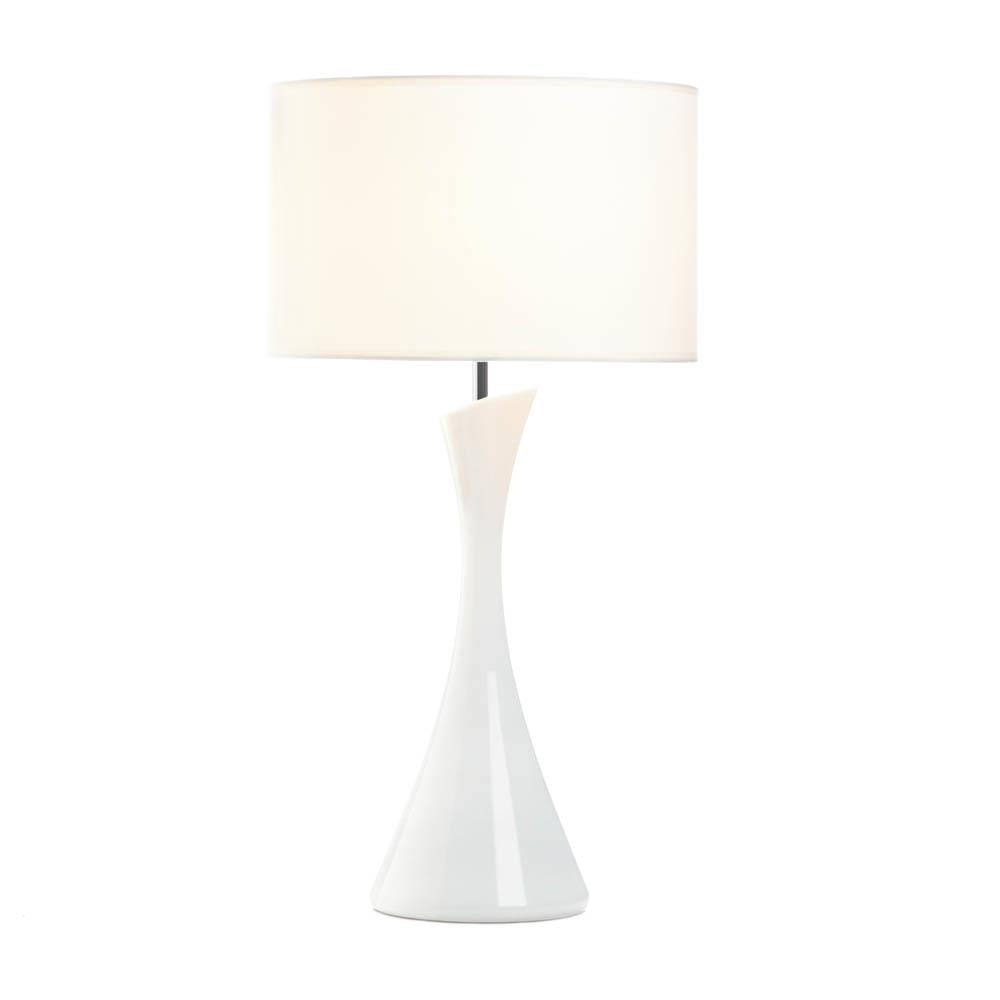 Sleek Modern White Table Lamp - UNQFurniture