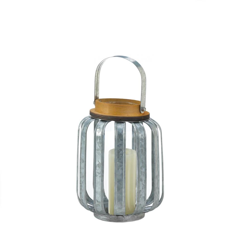 Small Galvanized Metal Lantern - UNQFurniture