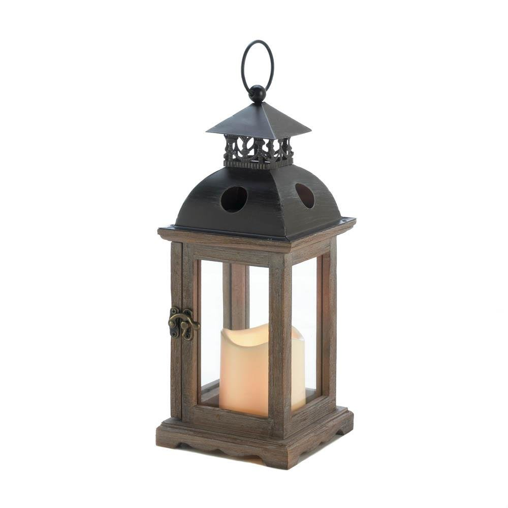 Small Monticello Lantern with LED Candle - UNQFurniture