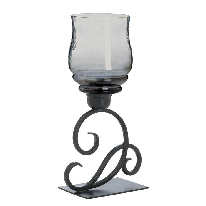 Smoked Glass Cursive Candle Stand - UNQFurniture