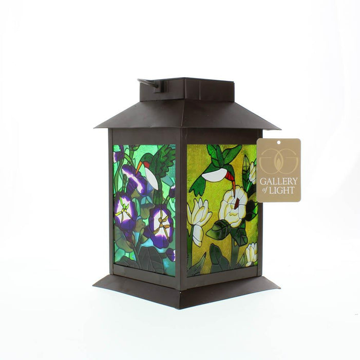 Solar Powered Floral Lantern - UNQFurniture