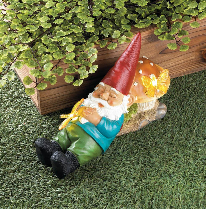 Solar-Powered Sleepy Gnome - UNQFurniture