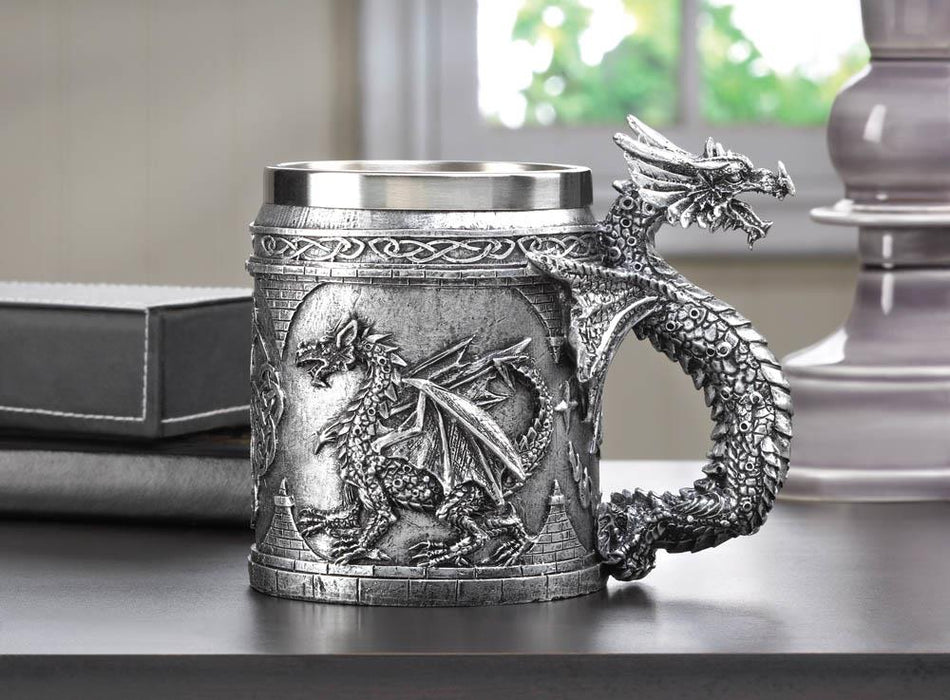 Stainless Steel Dragon Mug - UNQFurniture