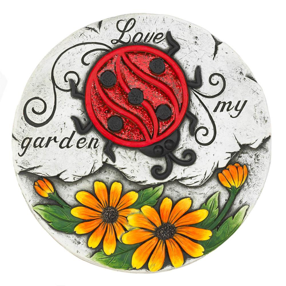 Sunflower Lady Bug Garden Stepping Stone - UNQFurniture