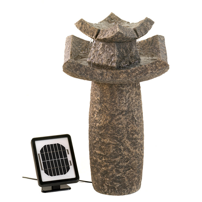 Temple Solar Water Fountain - UNQFurniture
