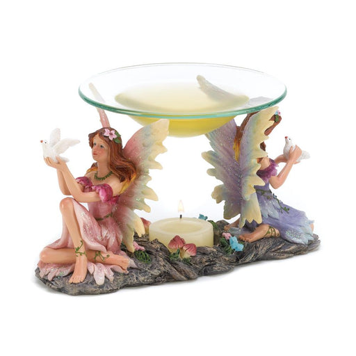 Twin Fairies Oil Warmer - UNQFurniture