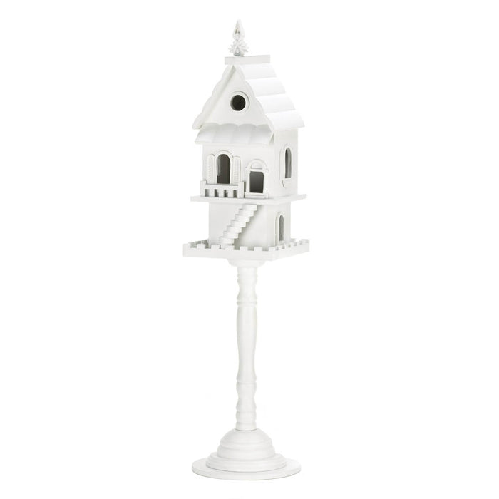 Two Story Pedestal Birdhouse - UNQFurniture