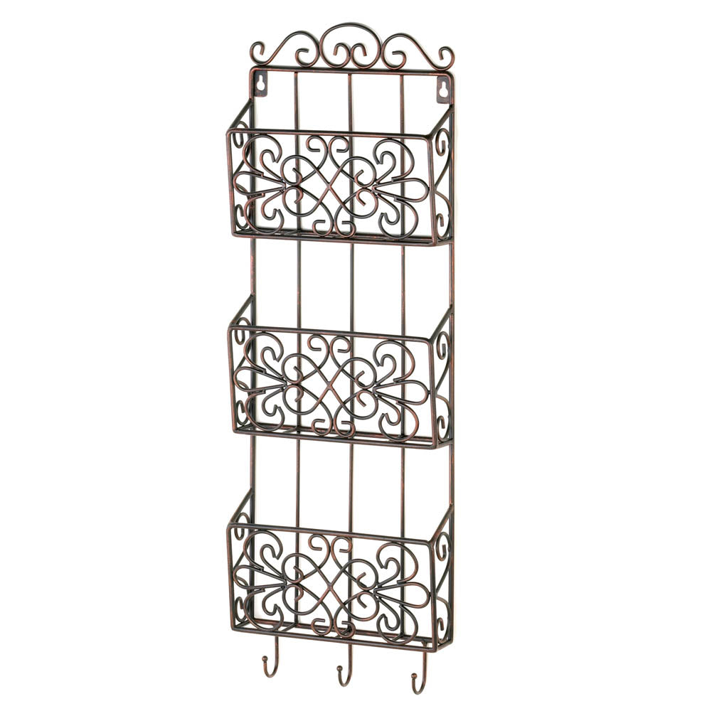 Vintage Charm Triple Wall Rack - UNQFurniture
