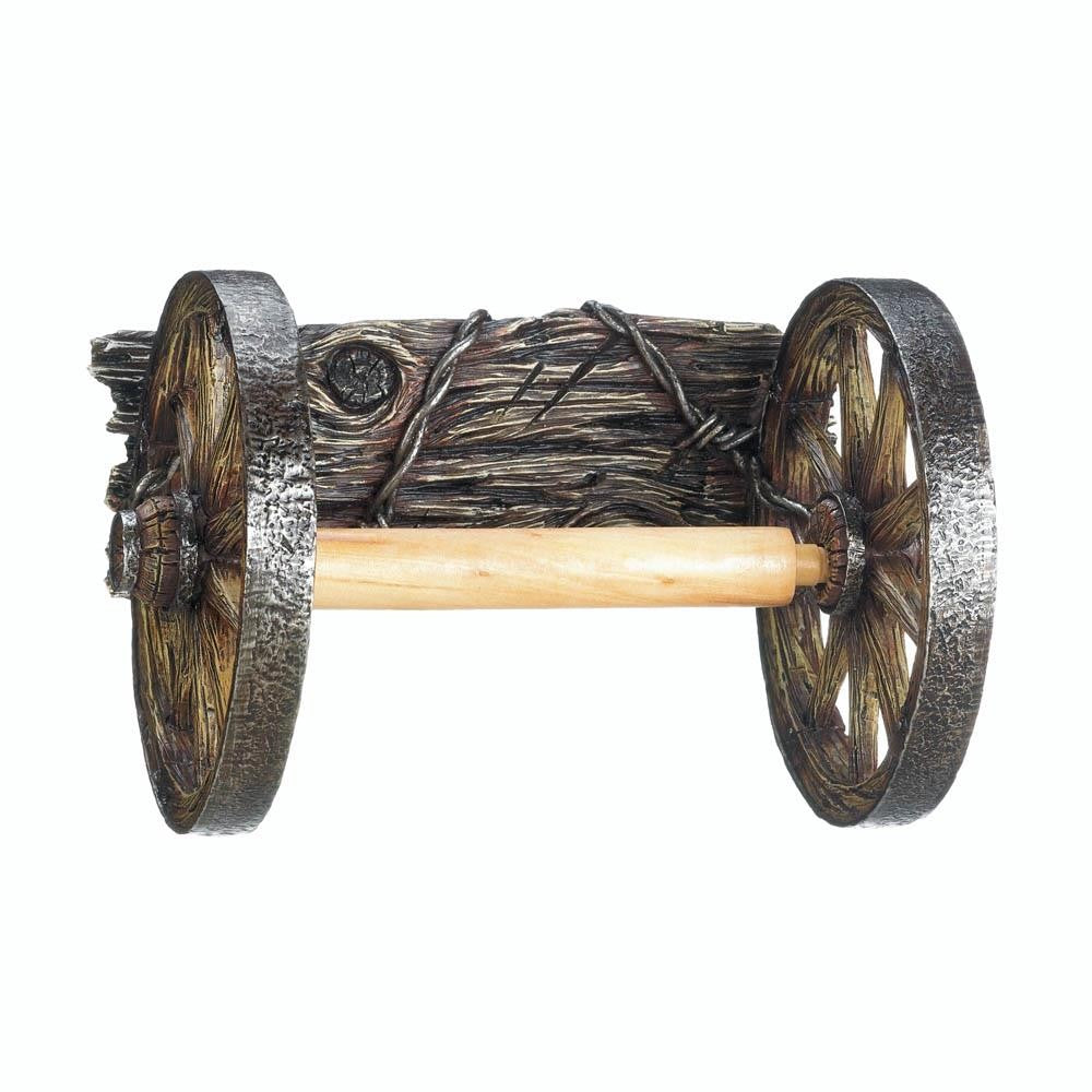 Wagon Wheel Toilet Paper Holder - UNQFurniture