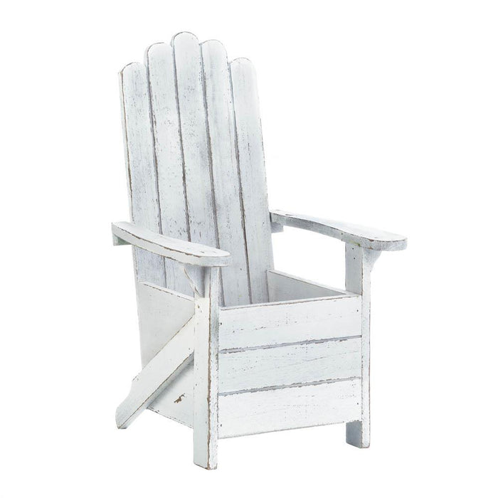 White Adirondack Chair Planter - UNQFurniture