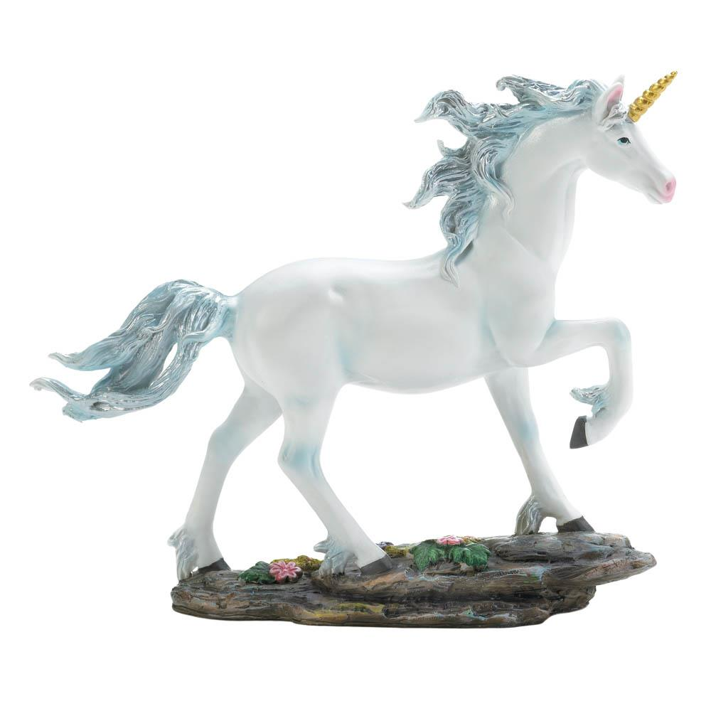 White Unicorn Figurine - UNQFurniture