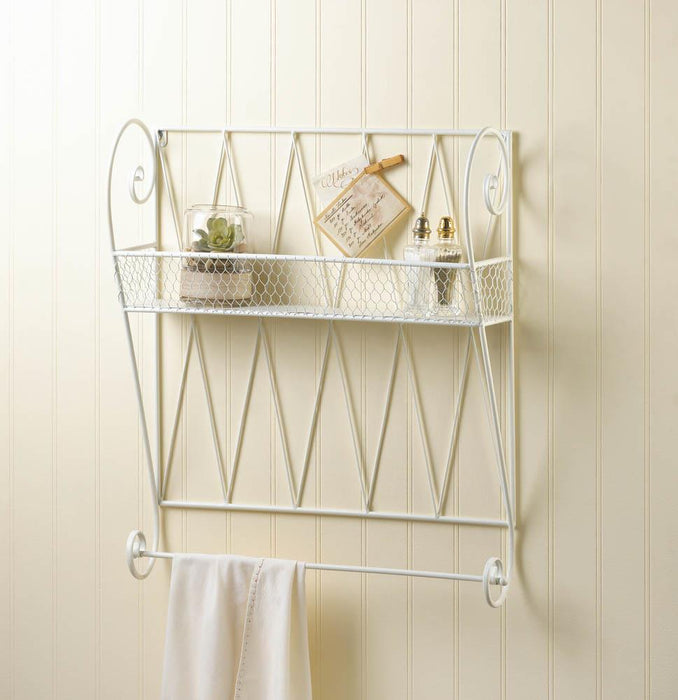 White Wire Wall Shelf - UNQFurniture