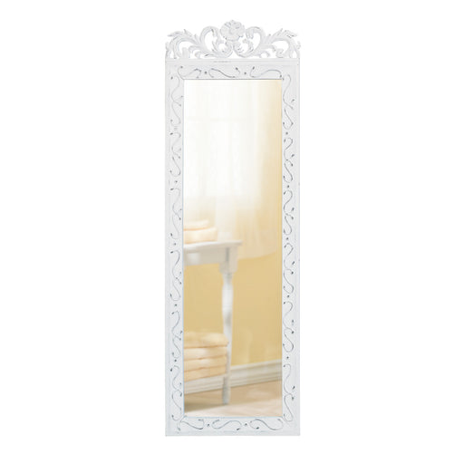 White Wood Wall Mirror - UNQFurniture