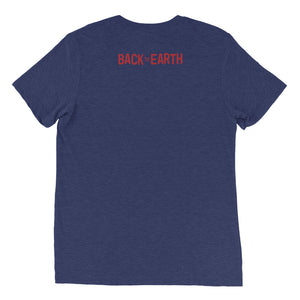 Earthers (Red logo) - Short sleeve Tri-blend t-shirt