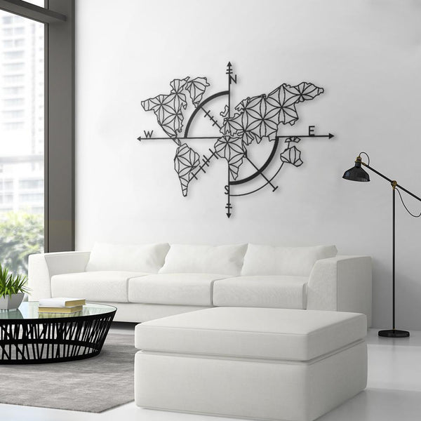 Map Of Life   Modern Metal Wall Art Decor