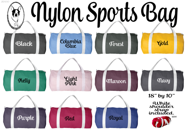 Nylon Sports Bag (Plain, no design)