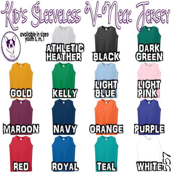 Girls Sleeveless V-Neck Jersey