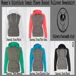 Women's Colorblock Fleece Hooded Pullover