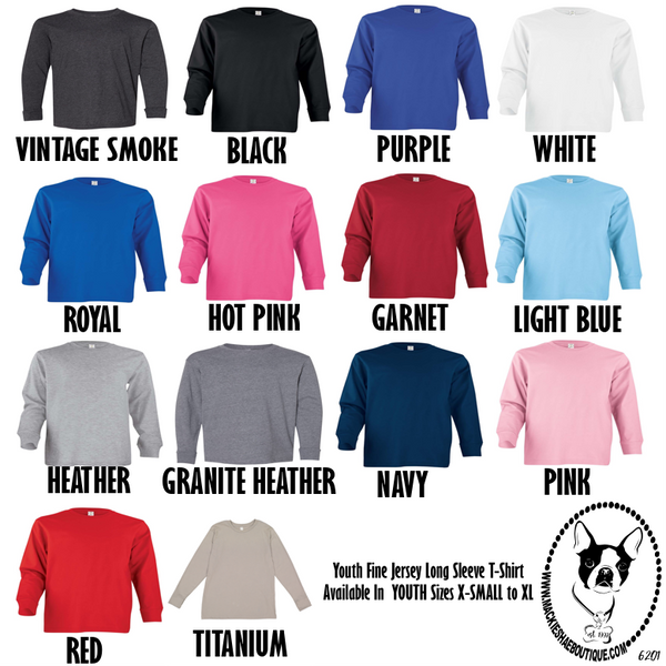 Youth Fine Jersey Long Sleeve Tee