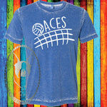 Aces Volleyball (Get Any Team) Custom Shirt, Soft Short Sleeve