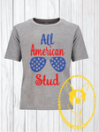 All American Stud Custom Shirt for Kids, Short-Sleeve