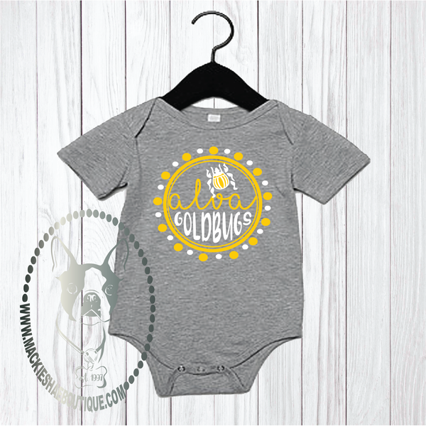 Alva Goldbugs Circle Custom Shirt for Kids, One Piece