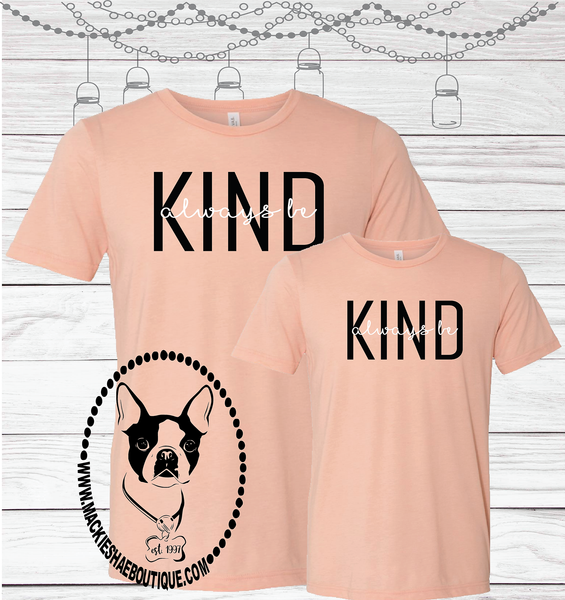 Always Be Kind Custom Shirt for Kids, Short Sleeve