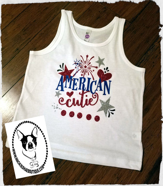 American Cutie Custom Shirt for Kids, Tank