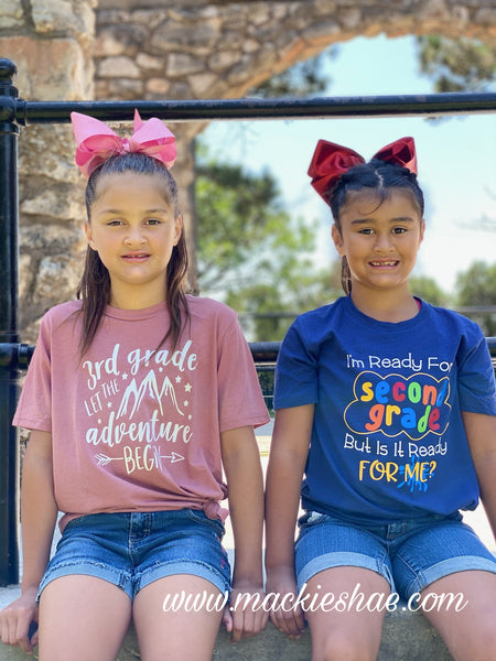 I'm Ready for Second Grade But Is It Ready for Me? Custom Shirt for Kids, Soft Short Sleeve (Get Any Grade)