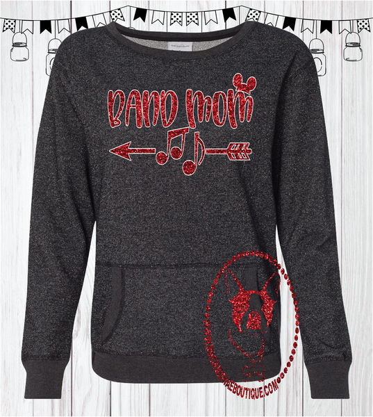 Band Mom Disney Custom Shirt, Glitter Sweatshirt