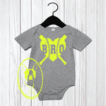 Baseball/Softball Bro Heart Custom Body Suit for Kids