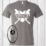 Baseball/Softball Grandma Heart Custom Shirt, Short-Sleeve