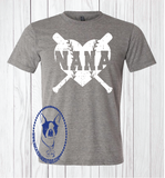 Baseball/Softball Nana Heart Custom Shirt, Short-Sleeve