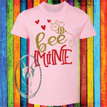 Bee Mine Custom Shirt for Kids, Soft Short Sleeve