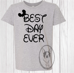 Best Day Ever Disney Custom Shirt, Short Sleeve