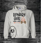 Bonfire Hair Don't Care Custom Shirt, Heavy Hoodie