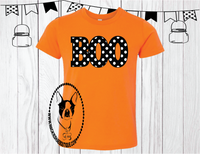 Boo Polka Dot Custom Shirt for Kids, Short Sleeve