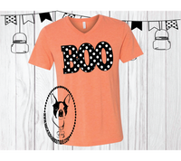 Boo Polka Dot Custom Shirt, Short Sleeve
