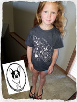 Cow with Flower Custom Shirt for kids, Short Sleeve