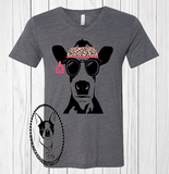 Cool Cow with Personalized Tag Custom Shirt, Short-Sleeve