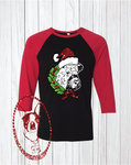 Christmas Cow Custom Shirt, 3/4 Sleeve