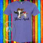Show Mom (Aunt, Grandma, Anything!) Cow and Sheep Custom Shirt, Soft Short Sleeve